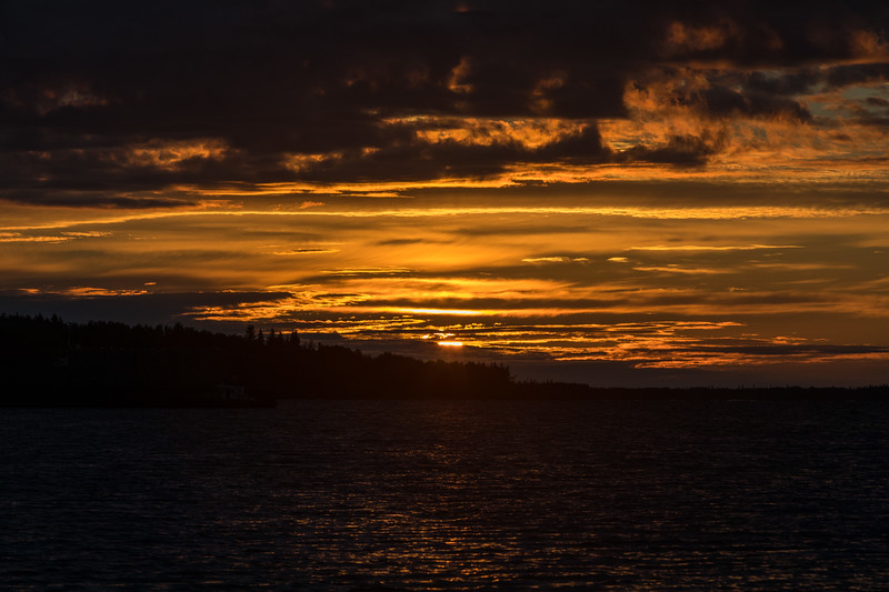 Sunrise at Moosonee looking down the Moose River 2017 July 10th.