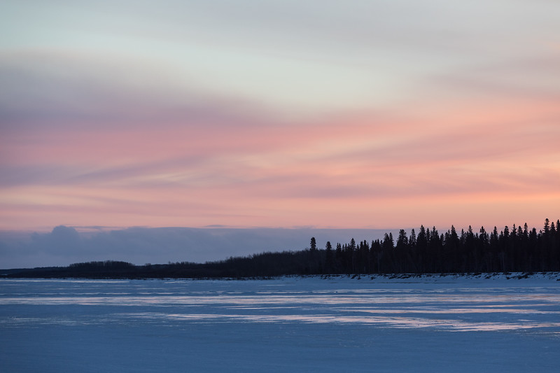Sky down the Moose River before sunrise.