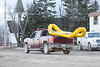 Moosonee Fire Department truck with inflatable rescue craft.