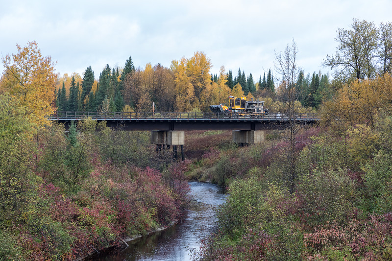 Railway equipment over Store Creek.