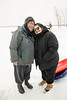 Denise Lantz and her daughter Skylene Metatawabin in Moosonee 2017 January 14th.