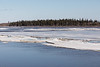ice from Moosonee shoreline heading down the river.