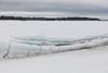 Broken ice along the tidemark, looking across to the Gutway.