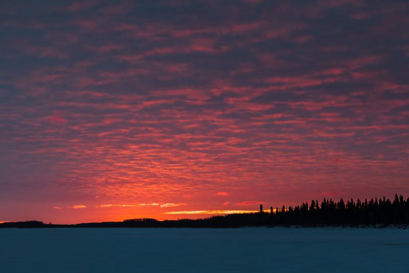 Sky just before sunrise. 2017 April 16th. Darker version.