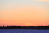 Looking across the Moose River on a cold morning just before sunrise.
