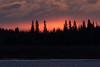 Cloudy sunrise at Moosonee.