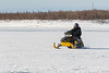 Snowmobile on the Moose River.