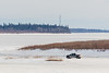 Truck heading across the river to Moose Factory.