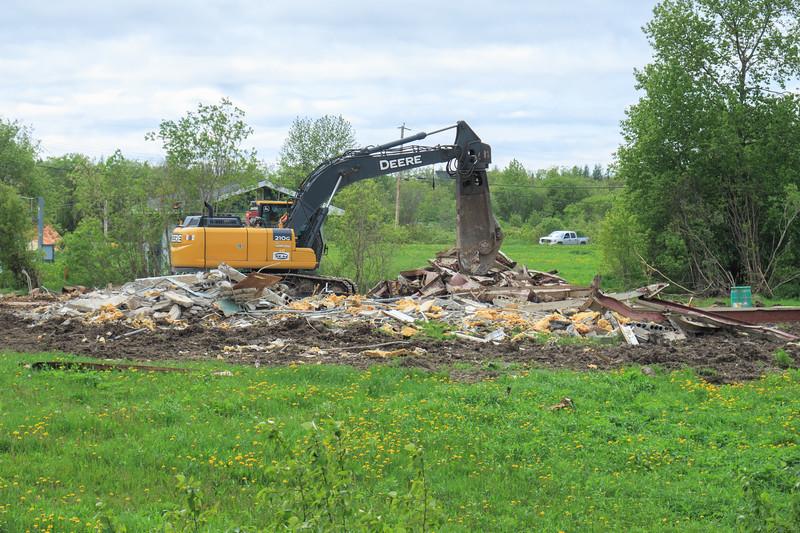 Demolition of old sewer plant in Moosonee.