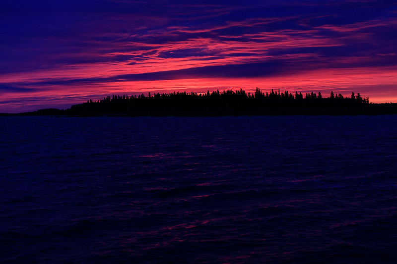 Butler Island and the Moose River before sunrise.