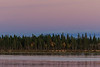 Looking across the Moose River before sunset.
