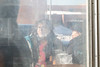 Denise Lantz and her neice Deanne Spence having a smoke outside the Quickstop.