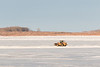 Loader on the Moose River. Looking down river from Moosonee.