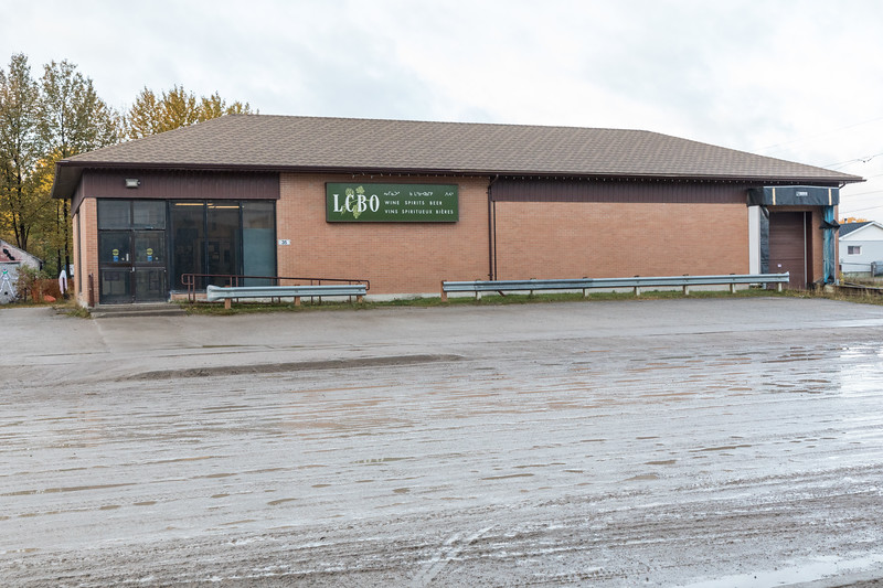 Liquor Control Board of Ontario (LCBO) store in Moosonee.