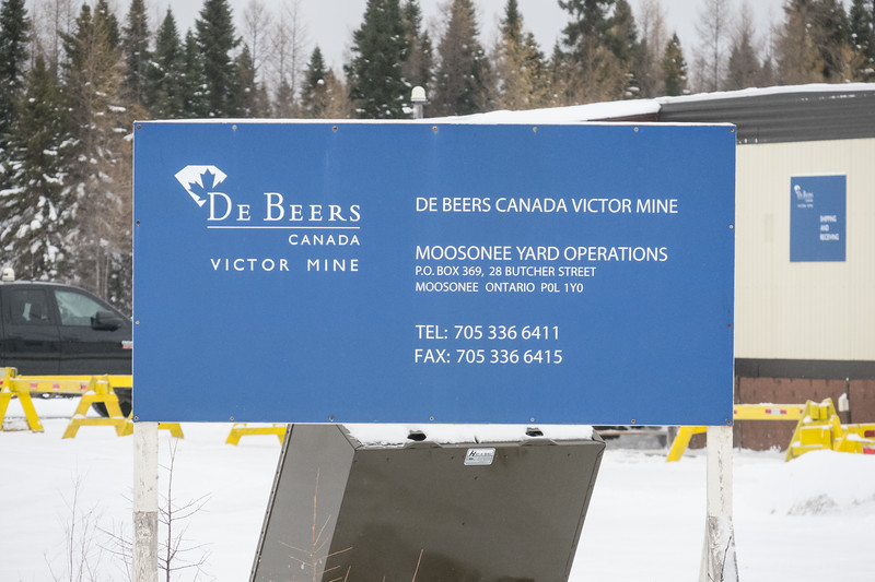 DeBeers Canada Victor Mine Moosonee Yard Operations.