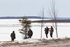 Video crew along the Moose River in Moosonee 2017 April 20th.