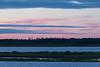 Purple skies across the Moose River before sunrise at Moosonee.