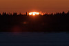 Sunrise across the Moose River from Moosonee 2017 March 5th.