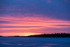 Looking down the Moose River before sunrise. Not much water on the ice so not a lot of reflections.