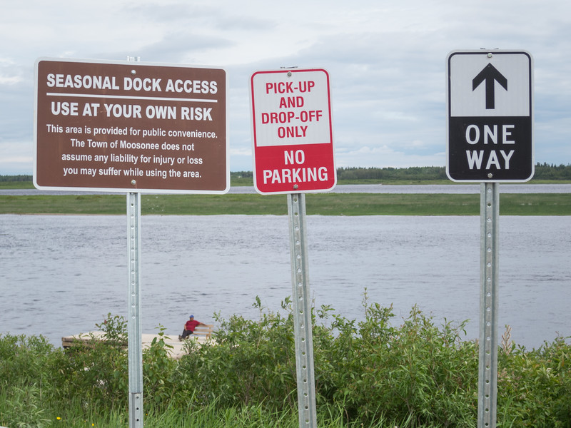 New signs at public docks.
