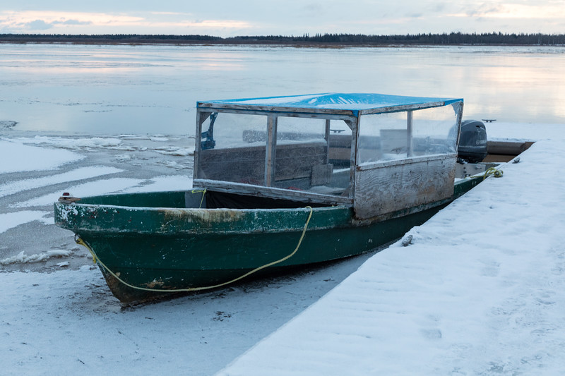 Taxi boat at public docks