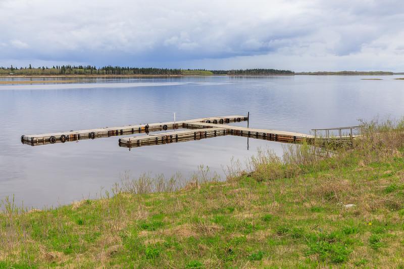 Two Bay docks in Moosonee 2017 May 31st.