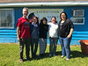 Jeff Schlemmer and Monica Wolf from Neighbourhood Legal Services in London with articling student, Pauline Sackaney and Kathryn Hookimawillene outside Keewaytinok Native Legal Services
