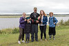 Hamilton lawyer and family along the Moose River.