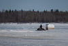 McCauley's Hill 2017 April 14th Good Friday. Snowmobile taxi.