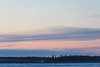 Thin faint moon over Moose Factory Island before sunrise 2017 March 25th.