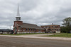 Christ the King Roman Catholic Cathedral and its former rectory in Moosonee.