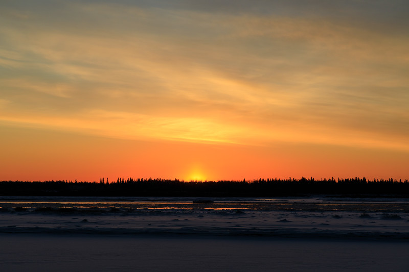 Sunrise at Moosonee 2017 November 17th.