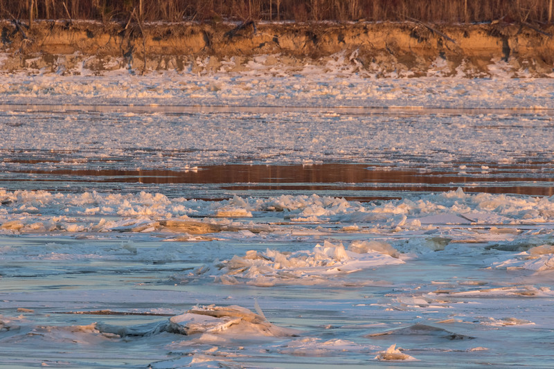 Ice flowing in front of Butler Island 2017 November 13th.