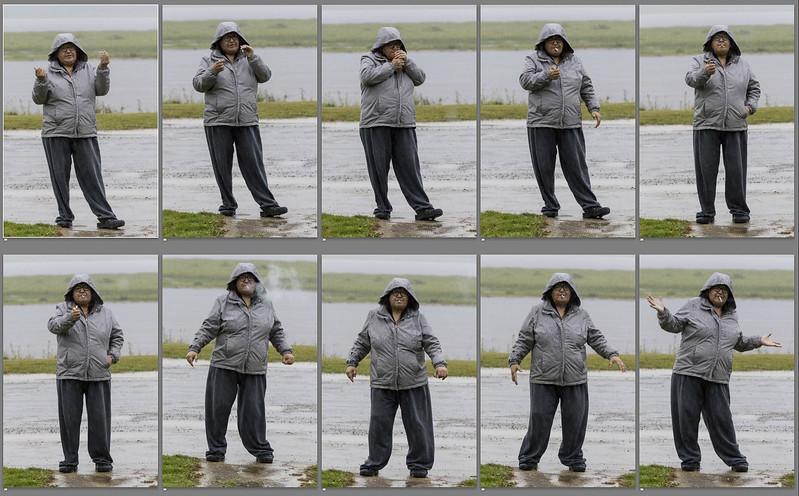 Denise Lantz smoking in the rain 10 exposures 201 08 14