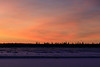 Sky before sunrise looking across the Moose River from Moosonee.