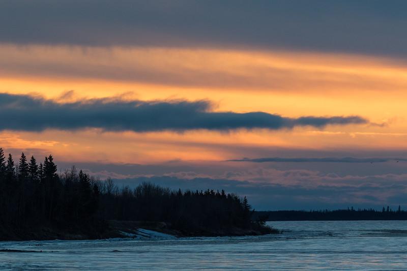 Down river at sunrise.