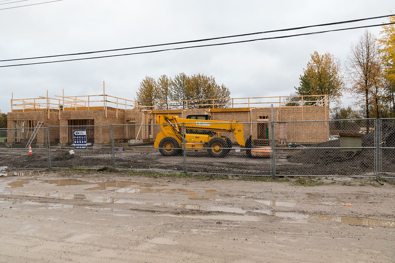New housing for Ontario Government staff under construction in Moosonee.