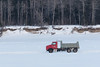 Gravel truck on the Moose River in front of Butler Island 2017 February 26th.