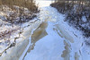Store Creek looking from Ferguson Road bridge towards the Moose River 2017 December 2nd.