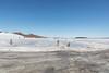 Looking down the Moose River from winter road in Moosonee.