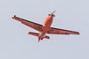 ORNGE Pilatus PC-12 C-GRXN over the Moose River after taking off from Moosonee 2017 April 9th.