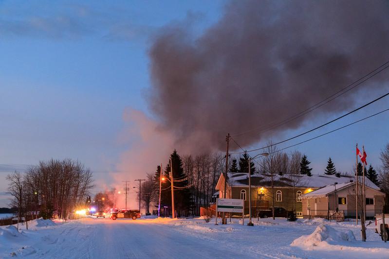 Polar Bear Lodge fire 2017 December 1st.