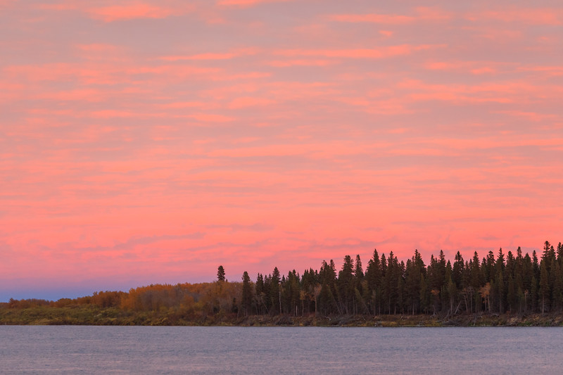 Sky before sunset over the North end of Butler Island.