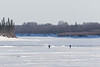 People walking on the Moose River 2017 March 29th.