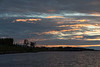 Moose River shoreline in Moosonee just before the sun comes up.