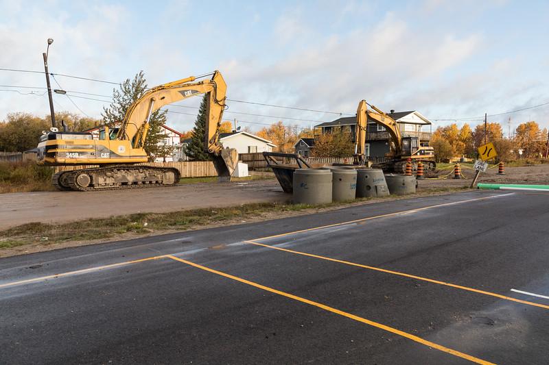 Sewer construction on Ferguson Road.