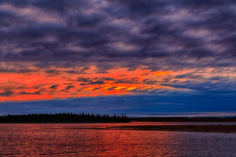 Sky before sunrise over Butler Island 2017 October 13th. HDR efx dark.