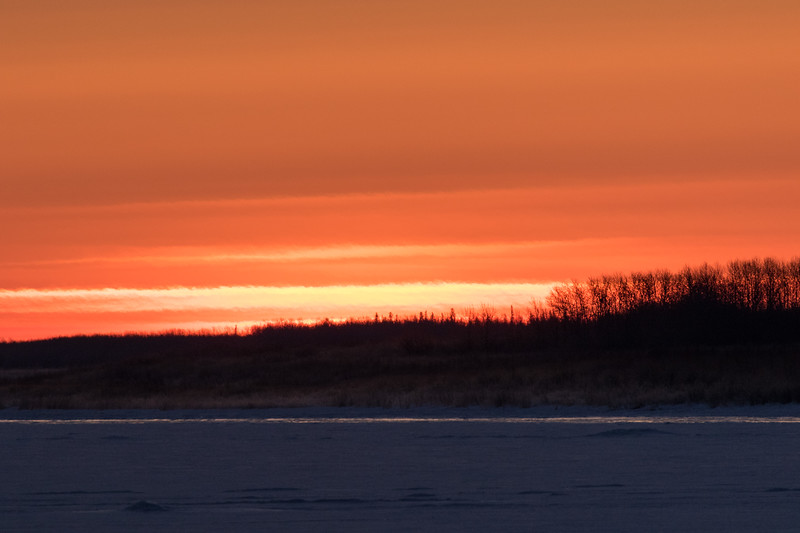 Looking down the Moose River a few minutes before sunrise.