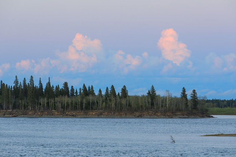 Clouds over the South end of Butler Island after sunset 2017 June 4th.