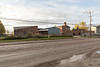 View of Ontario Government Building in Moosonee from Ferguson Road (view from rear of building).